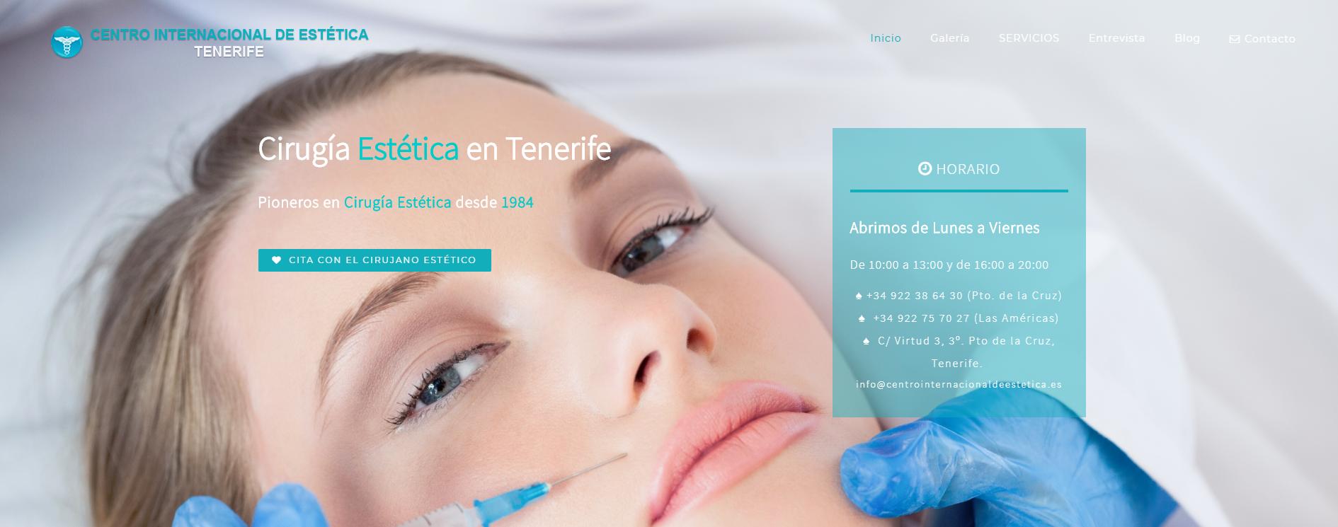 Diseño Web en Tenerife Centro Internacional de Estética