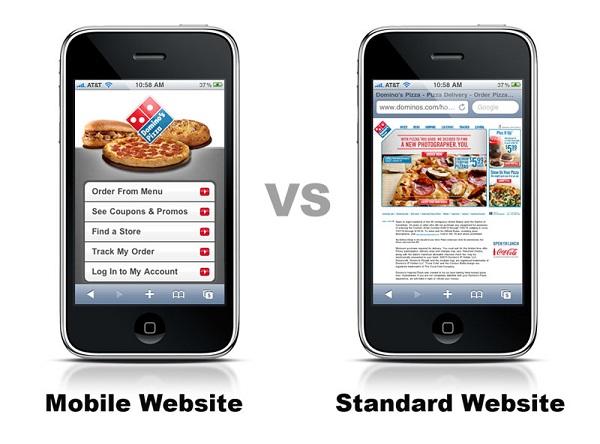 versión movil web vs normal